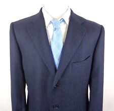 Ermenegildo Zegna 46L Silk Cashmere Sport Coat Blazer 3 Button Blue Glen Plaid