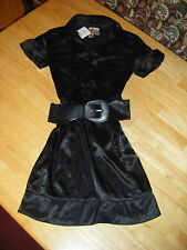Juniors ROSS STORE Black Stretch Chest Button Dressy Dress Size Small New w Tag