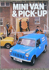 British Leyland Mini van & pick-up fold out brochure 1974?