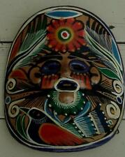 Colorful Vintage Hand Painted Decorative Pottery Mask,  VERY GOOD CONDITION