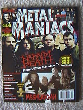 METAL MANIACS MAGAZINE FEB 2005 DESTROYER SLAYER POSTER JUNGLE ROT NAPALM DEATH