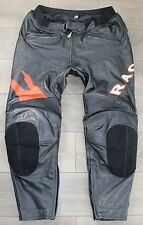 Black Leather HEIN GERICKE Armour Racing Men's Jeans Pants Trousers Size W43 L32