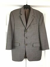 LAUREN RALPH LAUREN Grey 3 Button 100% Wool Woolmark Sport Coat Blazer Men's