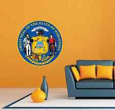 "Wisconsin State Seal USA Wall Room Garage Decor Sticker Decal 22""X22"""