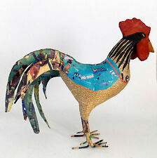 "PAPER MACHE RENE ROOSTER BY VIVA TERRA 18"" X 21"" X 14"" - CHINESE YEAR OF ROOSTER"