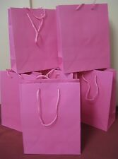 PINK MEDIUM CORD HANDLE GIFT BAGS X 6 PARTY BAGS WEDDING BRIDESMAID GIFTS