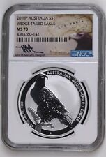 AUSTRALIA WEDGE TAILED EAGLE - NGC MS70 Mercanti Signed - 2016 1 oz Silver Coin