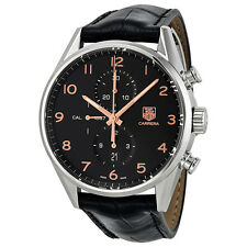 Tag Heuer Carrera Calibre 1887 Chronograph Automatic Black Dial Mens Watch
