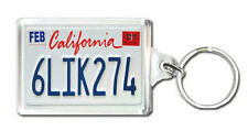 CALIFORNIA USA LICENSE PLATE KEYRING SOUVENIR LLAVERO
