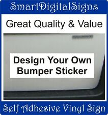 Personalised Vehicle decal Graphic Design your own bumper sticker 20cm x 30cm