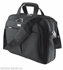 "NEW SYDNEY 16"" LUXURY PADDED NOTEBOOK LAPTOP SHOULDER CARRY BAG CASE BLACK"