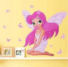 Tinkerbell Fee Mädchen Kinderzimmer Transparent Rand Wand Sticker 50cm x 70cm