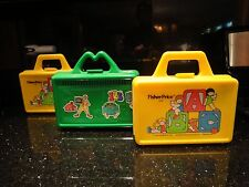 Set of 3 Collectible Plastic Lunch Boxes w/ Thermos Fisher Price 1979, McDonalds