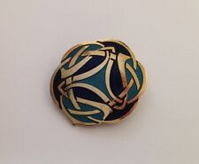 CELTIC SEA GEMS Jewellery Vintage Enamelled Celtic Scarf Clip/Clasp Signed