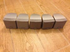 5 Bose Single Cube Speakers In Silver Color From Lifestyle 18 Series Ill