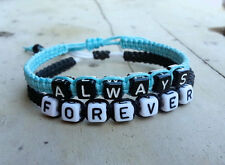 Couples Bracelet Always and Forever Partner Jewelry Macrame Braclet CP-390