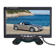 """7"""" LCD TFT Color Car Rear view Monitor 2CH Video For DVD & Reversing Camera"""