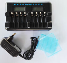 8 slot LCD AA AAA NIMH Smart Rechargeable battery Charger & discharge repair
