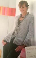 Ladies Flared Jacket / Cardigan ( S, M, L )  Knitting / Crochet Pattern