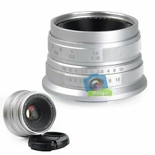 25mm f/1.8 DISCOVER HD Manual Focus Lens Fr Panasonic Olympus Micro 4/3 DSLR【UK】