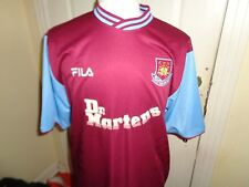 XL West Ham United 1999/01 FILA HOME Dr. MARTENS shirt jersey soccer Hammers