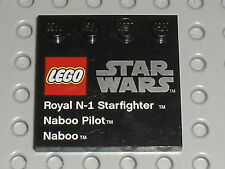 LEGO STAR WARS Tile 6179 73131 / Set 9674 Naboo Starfighter & Naboo