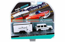 MAISTO 1:64 TOW & GO MERCEDES-BENZ G-CLASS / CAR TRAILER DIECAST CAR 15368