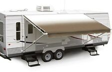 "18' Beige Fade w/Wht W/G, RV Patio Awning Repl. fabric canopy (Fabric:17'2"")"