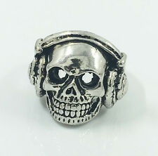 Hot Men's Woman 316L Stainless Steel Vogue Design Mini Skull Ring Size 10