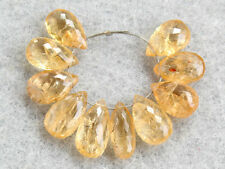 Natural Imperial Topaz Faceted Pear Briolette Beads 002
