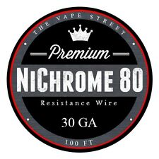 100 FT - 30 Gauge Nichrome 80 AWG Round Wire Roll .254mm, 6.76 ohms/ft