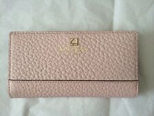 New Kate Spade Stacy Southport Avenue pale pink balletslip blue Wallet Clutch