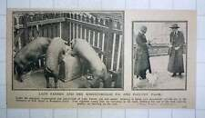 1917 Lady Farren And Her Knightsbridge Pig And Poultry Farm Pow Depot Brompton R