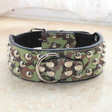 """2"""" Wide Gator Leather Spiked Studded Pet Dog Collars Pitbull Bully Boxer Terrier"""