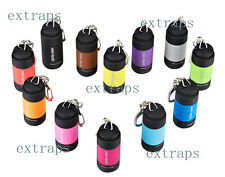 Mini Pocket Keychain Pocket Torch USB Rechargeable LED Light Flashlight Lamp EPS