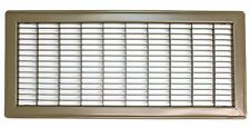 "8"" X 20"" Heavy Duty Rigid Floor Grille - Fixed Blades Air Grill - Brown"