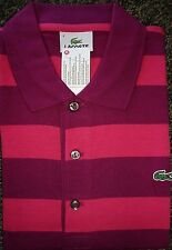 NEW MENS LACOSTE S/S JERSEY GRADED STRIPE POLO GOLF SHIRT, PICK A COLOR & SIZE