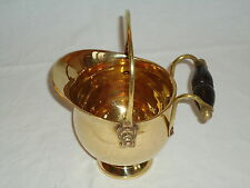 Small Brass Coal Bucket Victorian Style -plant pot- Farm house