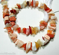 """Mexican Fire Opal Chip Nugget Beads 8"""" Natural Stone A+ Gorgeous Color"""