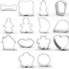13 Piece Cookie Cutter Set Various Shapes Baking Cake Decorating Metal Mixed