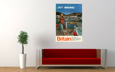 JET BOAC BRITAIN TRAVEL VINTAGE REPRO LARGE ART PRINT POSTER PICTURE WALL