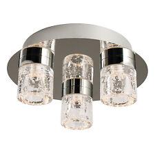 Endon Imperial chasse LED lampe plafond salle de bain IP44 3x 4W chrome verre