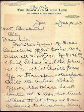 1903 Jacksonville FL - Beach & Miller Line St Johns River Steamers - Letter Head