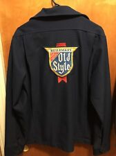 OLD STYLE BREWING Beer Chicago VINTAGE Mens LRG Unitog Delivery Work Jacket CUBS