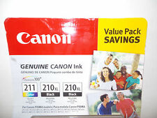 Genuine Canon CLI-211 Color Two PG-210XL Black Ink Cartridge Pack