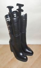 NEW Schuh womens black leather pull on platform sole ankle boots size 6