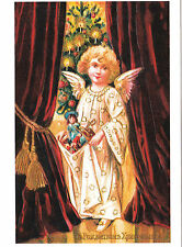 Chrismas Angel with toys repro Russian modern postcard
