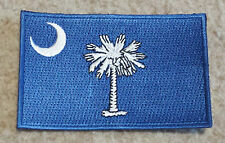 SOUTH CAROLINA STATE FLAG PATCH United States America Embroidered Badge 6 x 9cm