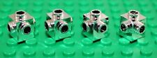 Lego 4x Silver Chrome Brick, Modified 1x1 with Studs on 4 Sides (4733) NEW!