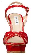 Steve Madden Kananda Platform High Heel Sandal Red Size 8.5